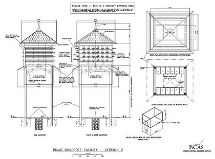 Concept drawing of a PiCAS recommended dovecote